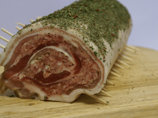Pork and Apple Roulade (per slice)