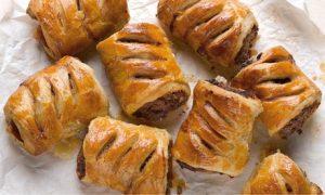 Merguez sausage rolls